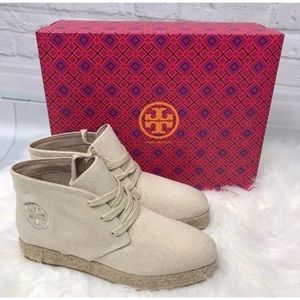 Tory Burch $250 Rios Lace Up Espadrille Bootie
